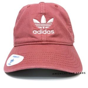 adidas Trefoil Trace Maroon Relaxed Strapback Hat